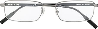 Montblanc Armação de óculos retangular - Preto