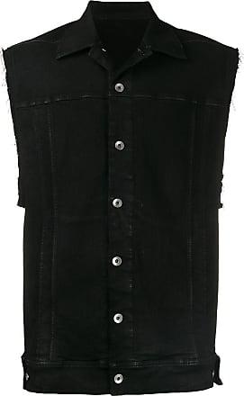 Rick Owens Colete jeans - Preto