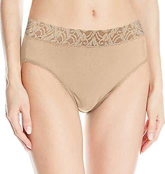 Wacoal Womens New Cotton Suede Hi-Cut Panty, Naturally Nude, 8