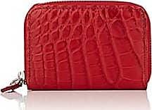 2ab13df834e9 Barneys New York Mens Small Alligator Zip-Around Card Case - Red