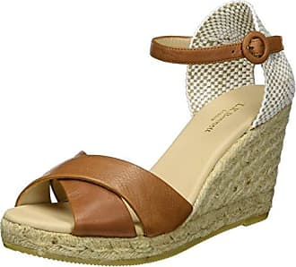 1899303cc0f L.k. Bennett Womens Angele-tum Espadrille Wedge Sandal Brown-Tan 41 EU 11