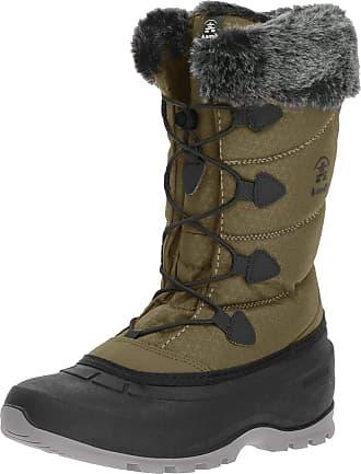 kamik Momentum2, Womens Snow Boots Snow Boots, Green (Khaki), 3.5 UK (36 EU)