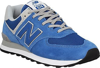 New Balance Baskets   Tennis mode NEW BALANCE 574 velours toile Homme Blue f92301469a15