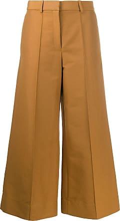 Victoria Beckham Pantalón culotte en algodón camel oscuro