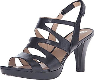 9efaeb8a3da Naturalizer Womens Pressley Platform Dress Sandal Black 8.5 M US