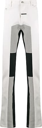 Zilver panelled straight-leg track jeans - White