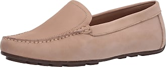 Driver Club USA Womens Leather Made in Brazil Driving Loafer with Venetian Detail, Cream Nubuck/Natural Sole, 4.5 UK