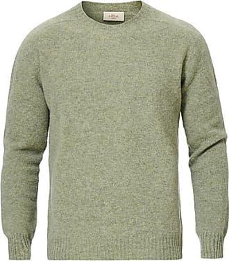 Altea Shetland Crew Neck Sweater Green