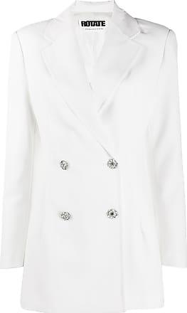 Rotate Vestido blazer com abotoamento duplo - Branco