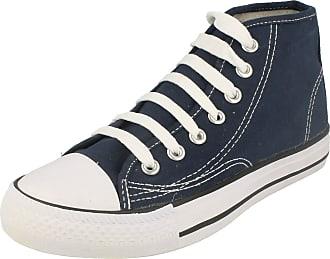Spot On Mens Spot On Lace Up Ankle Boot X0002 - Navy Canvas - UK Size 6 - EU Size 40 - US Size 7