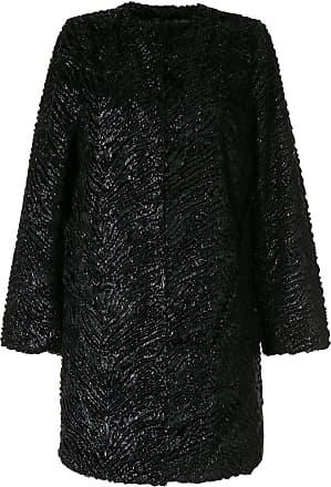 Unreal Fur textured faux-fur coat - Black