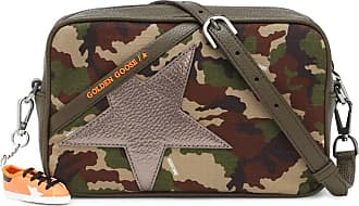 Golden Goose Star Small leather and canvas crossbody bag