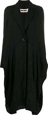 Uma Wang drape detail coat - Black