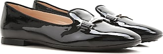 Tod's Ballet Flats Ballerina Shoes for Women On Sale, Black, Patent, 2017, 6