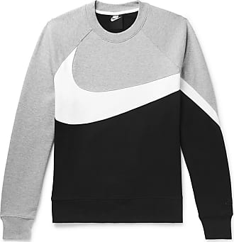 32727fdb3 Nike Logo-print Loopback Cotton-blend Jersey Sweatshirt - Gray