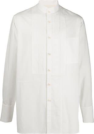Ziggy Chen mandarin collar cotton shirt - White