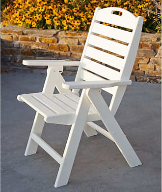POLYWOOD Outdoor POLYWOOD Nautical Recycled Plastic Highback Patio Chair Hunter Green - NCH38GR