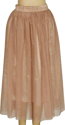 ZongSen Double Layer Tulle Skirt Petticoat Bouffant Long Skirts Party Boho Midi Skirt Khaki