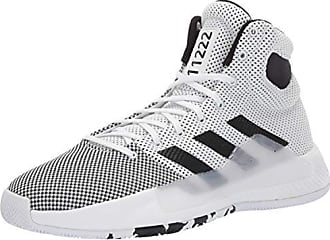 huge selection of 5f515 30dc4 adidas Mens Pro Bounce Madness 2019, White Black Solar red, 13 M