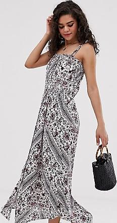 Y.A.S. Tall festival tie shoulder maxi dress-Multi