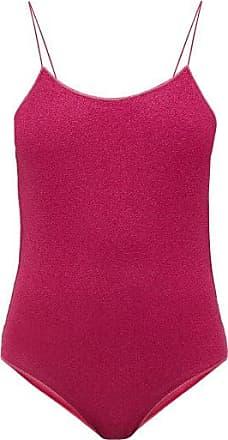 Oséree Lumière Metallic Swimsuit - Womens - Dark Pink