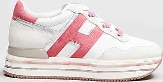 Rabaini Hogan - Sneakers dettagli rosa - Bianco