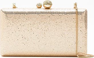Isla Bolsa clutch com brilho - Dourado