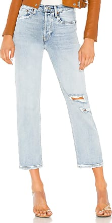 Re/Done Stovepipe Jean in Lived In Light
