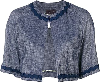 Talbot Runhof cropped jacket - Blue