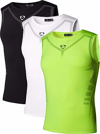 Jeansian Mens 3 Packs Sport Quick Dry Tank Tops Vests Shirt LSL207 PackD XL