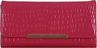 Girly HandBags Girly HandBags Patent Faux Leather Croc Purse Glossy Wallet Box Gift Womens Elegant - Rose