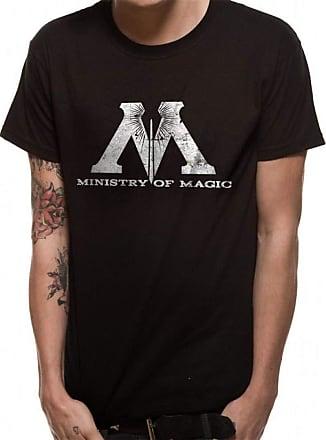 Harry Potter Mens Ministry Magic T-Shirt, Black (Black Black), X (Size: Ex Large)