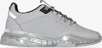 Mallet Footwear Mens Grey Elmore Clear Leather Sneakers