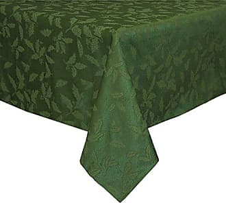 Lenox Holly Damask Tablecloth, 60 by 120-Inch Oblong/Rectangle, Green