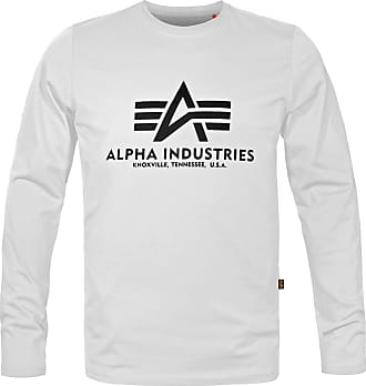 Alpha Industries Basic Alpha Langarm Shirt (Sale) weiß, Größe XXL