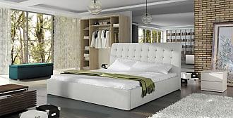 Stylefy Luzon Polsterbett Weiß 160x200