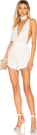 Superdown Jenny Twist Front Romper in Ivory