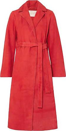 Stine Goya Luisa Belted Suede Coat - Red