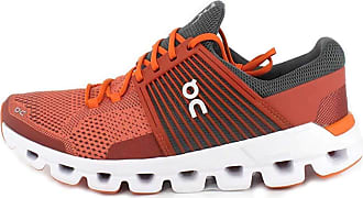 On On Running Mens Cloudswift Mesh Rust Rock Trainers 8 UK