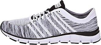 Boras 5200 Damen und Herren Sneakers WeißSchwarz, EU 45