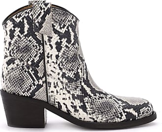 Via Roma 15 Texan Python Printed Leather Ankle Boots