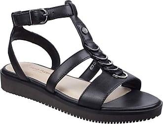 db3f3f24801d8c Hush Puppies Womens Ladies Briard Ring T Strap Leather Sandals (4 UK) (