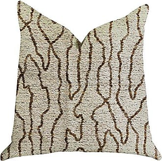 Plutus Brands Buttercup Harlow Double Sided King Luxury Throw Pillow 20 x 36 Brown/Beige