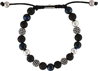 Nialaya textured beaded bracelet - Black