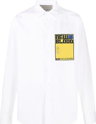 Frankie Morello Camisa com patch de logo - Branco