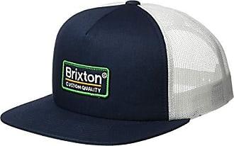 90f34b1de0d757 Brixton Mens Palmer Medium Profile Adjustable MESH HAT, Patriot Blue, O/S