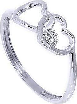 Coliseu Anel de Ouro 18k de coração com Diamante