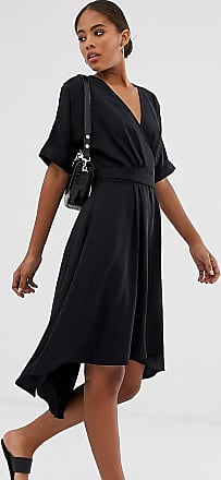 Y.A.S. Tall utility wrap dress with D ring buckle-Black