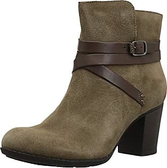 Clarks Womens Enfiled Coco Boots, Olive Suede, 8.5 M US