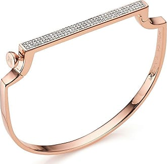 Monica Vinader Signature Thin Diamond bangle - PINK
